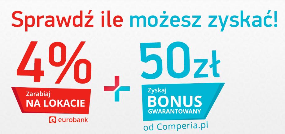 Lokata 4% i 50 zł w prezencie od Eurobanku